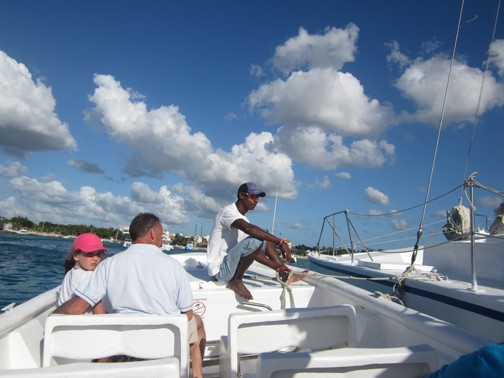 Motorboat ride in Saona Island, Dominican Republic