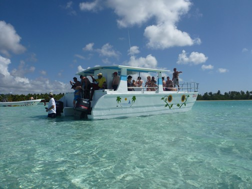 fun boat ride to Saona Island, Dominican Republic