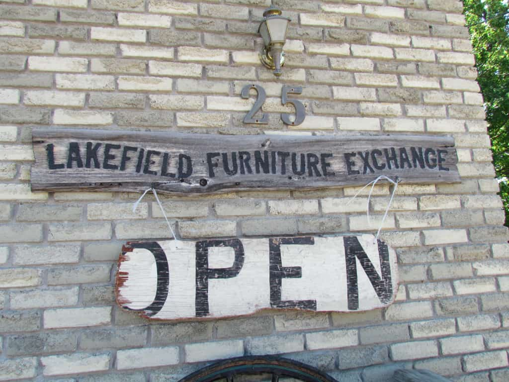 Small store treasures in village of lakefield on for Furniture exchange
