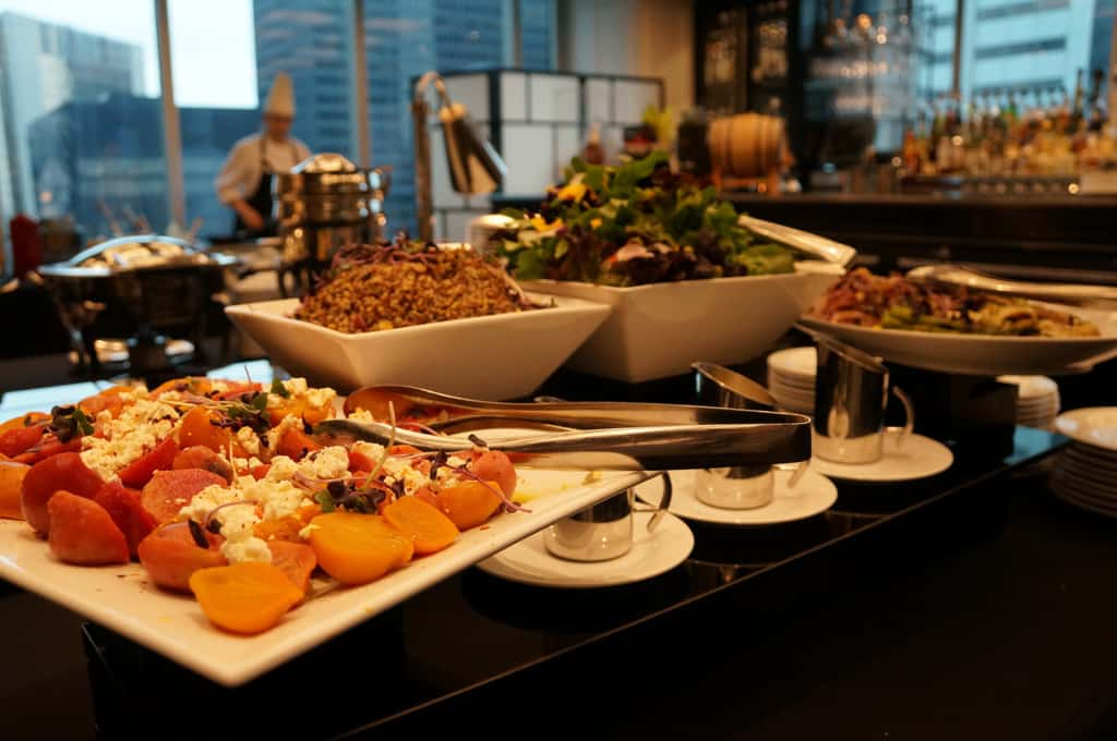 Trump Toronto Hotel and Tower-Stock Restaurant-bon vivant brunch-salads