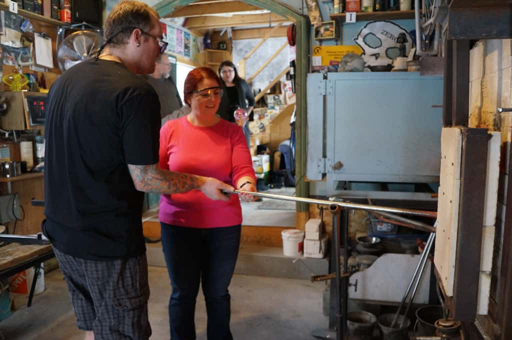 Glass-blowing-Artech-glass_Yours_outdoors_Haliburton_gathering
