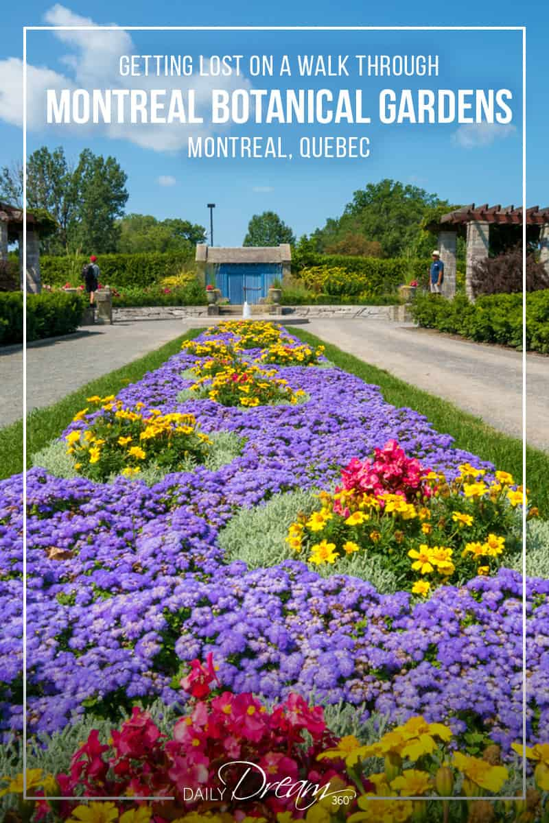 Discover a popular attraction in Montreal. The Montreal Botanical gardens offer beautifully manicured themed gardens, acres of walking trails and numerous exhibits and hiking trails. | #montreal #botanicalgardens #attraction #Quebec #hiking #trails |