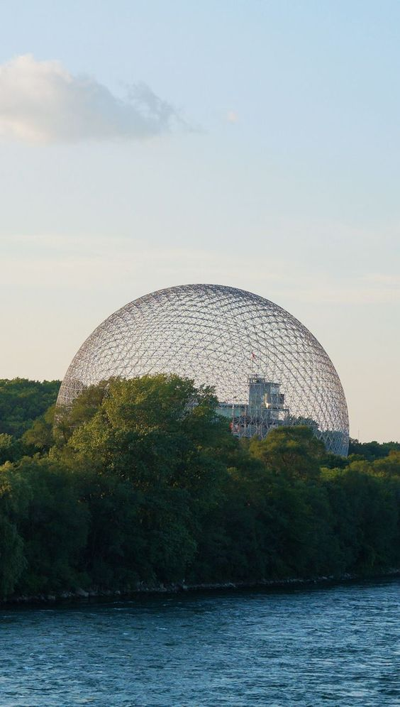 Montreal's Biosphere and Parc Jean-Drapeau great way to spend a beautiful summer's day. Short subway ride to the island filled with bike and walking trails.   #Montreal #Biosphere #Museum #Park  