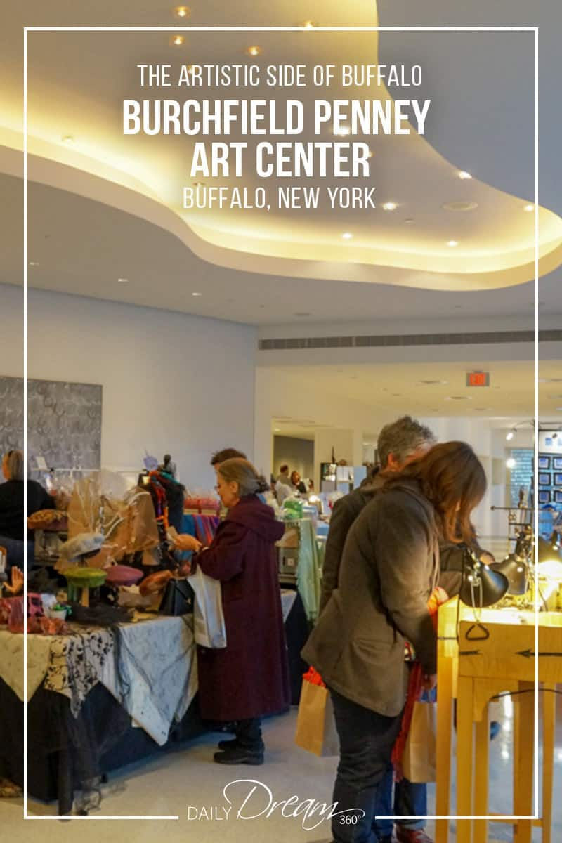 The Burchfield Penney Art Center is the only museum dedicated to the art and artists of Western New York and the vision of Charles E. Burchfield. We take a look inside the gallery and their Holiday Open event where you can purchase art from local artisans. | #Buffalo #Gallery #Museum #art #event |
