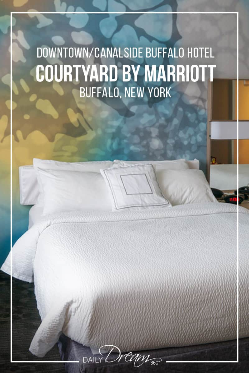 Looking for a great hotel in Buffalo? Close to downtown and right in Buffalo's Canalside neighbourhood the Courtyard by Mariott hotel is perfect. | #Buffalo #hotel #canalside #downtown #business |