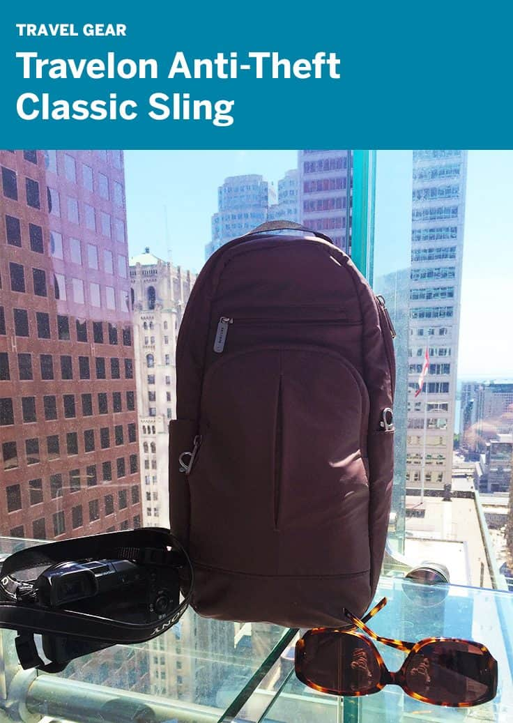 Review: Travelon Anti-Theft Classic Sling great bag for camera gear and travel day trips.