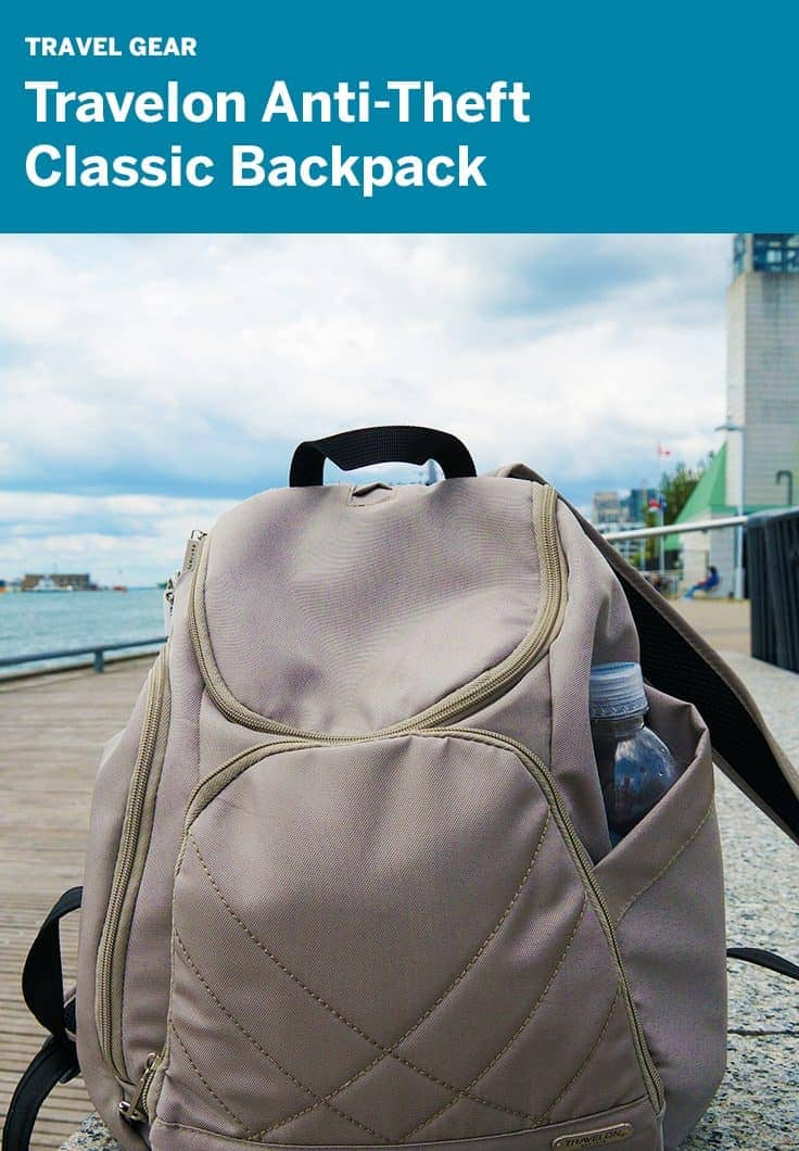 Review: Travelon Anti-Theft Classic Backpack great back for camera gear and travel day trips.