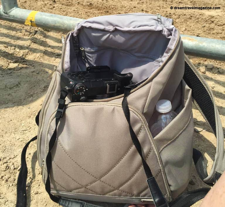 Review Travelon classic anti-theft backpack. Great bag for camera and other travel gear.