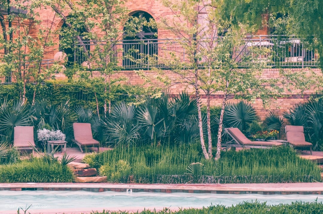 Quiet sitting area at main pool