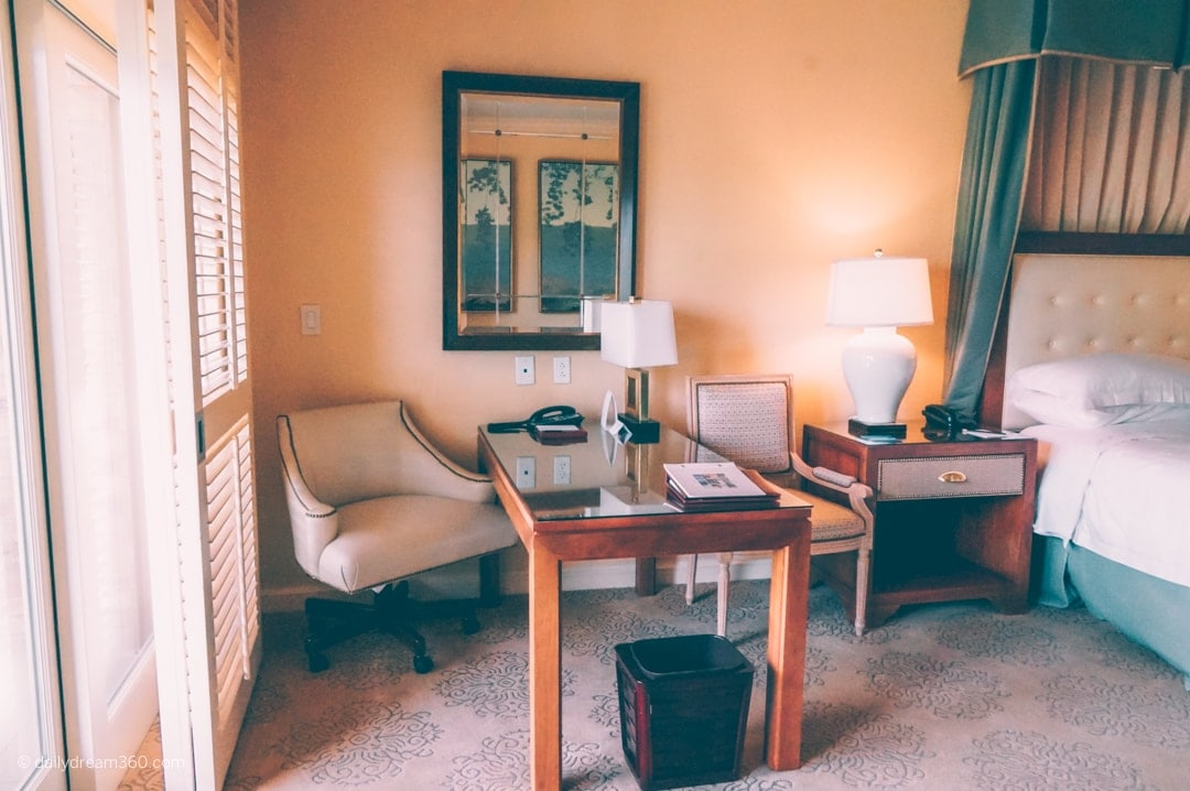 Desk and chair inside room