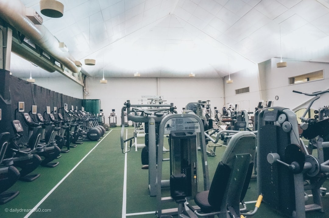 Many cardio machines available at sports complex