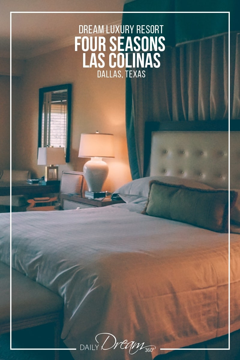 A look at bed in room at Four Seasons Las Colinas Dallas