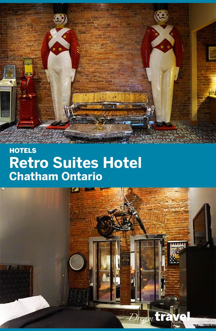 The Retro Suites hotel is Chatham Ontario's premiere boutique hotel where each suite is decorated with a different theme.