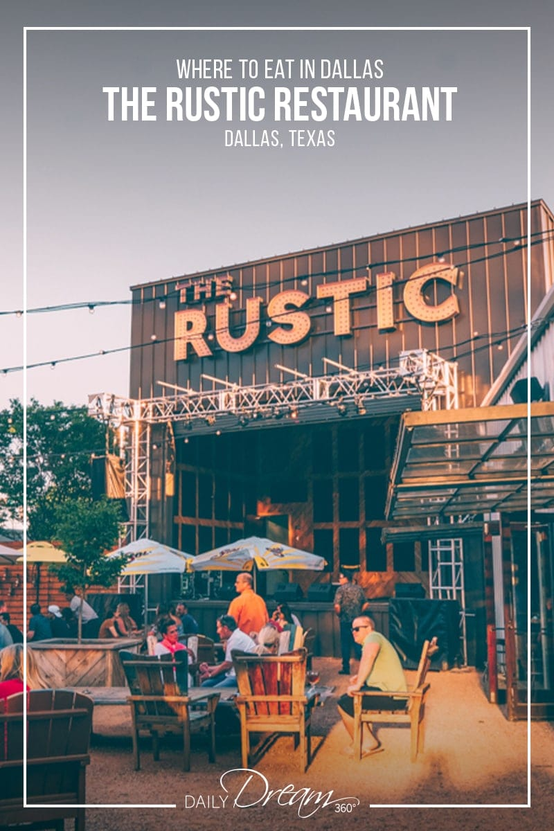 The backyard at the Rustic in Dallas Texas
