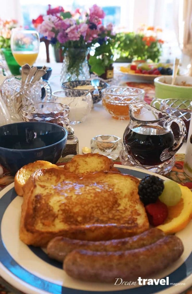 Breakfast is served at Deakins Bed and Breakfast in Ontario's Highlands