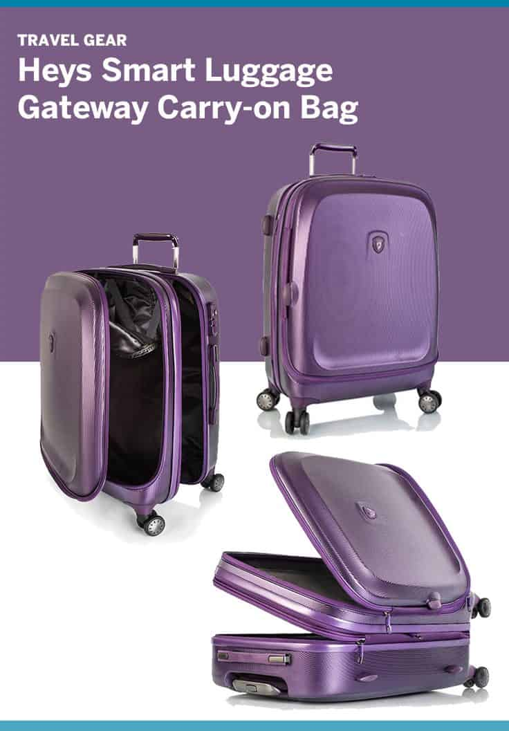Review of Heys Smart Luggage Gateway Carry On Bag.