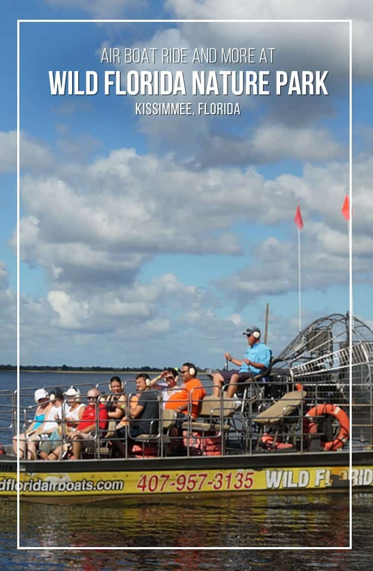 If you are visiting the Kissimmee Florida region and looking for a fun day outdoors in nature, check out the Wild Florida Nature Park. We had a fantastic day with a morning airboat ride and a walk through the animal park. | #Florida #attraction #Kissimmee |