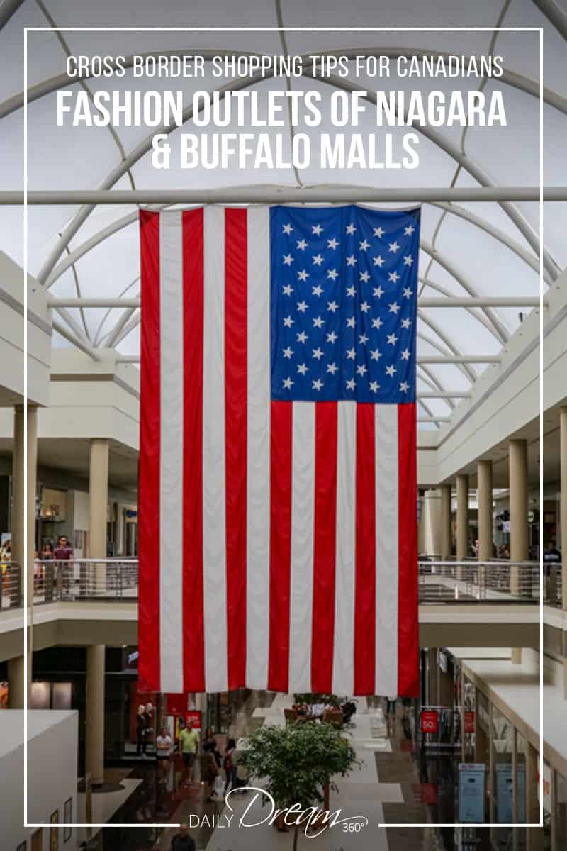 In this post we share Cross Border Shopping Tips for Canadians travelling to the Fashion Outlets of Niagara and Buffalo area malls. With border crossing tips and popular shopping destinations in the region we have it all in this Niagara Falls Cross Border Shopping Guide. | #Buffalo #Shopping #Cross-borderNiagara #NiagaraFalls #OutletMalls |