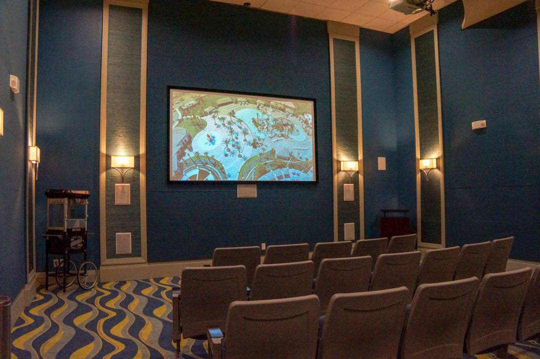 Movie theatre in oasis club