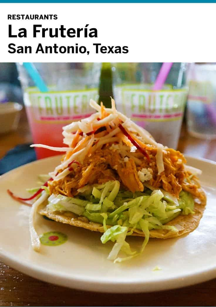 La Fruteria restaurant in San Antonio features great Mexican dishes prepared with fresh local ingredients.