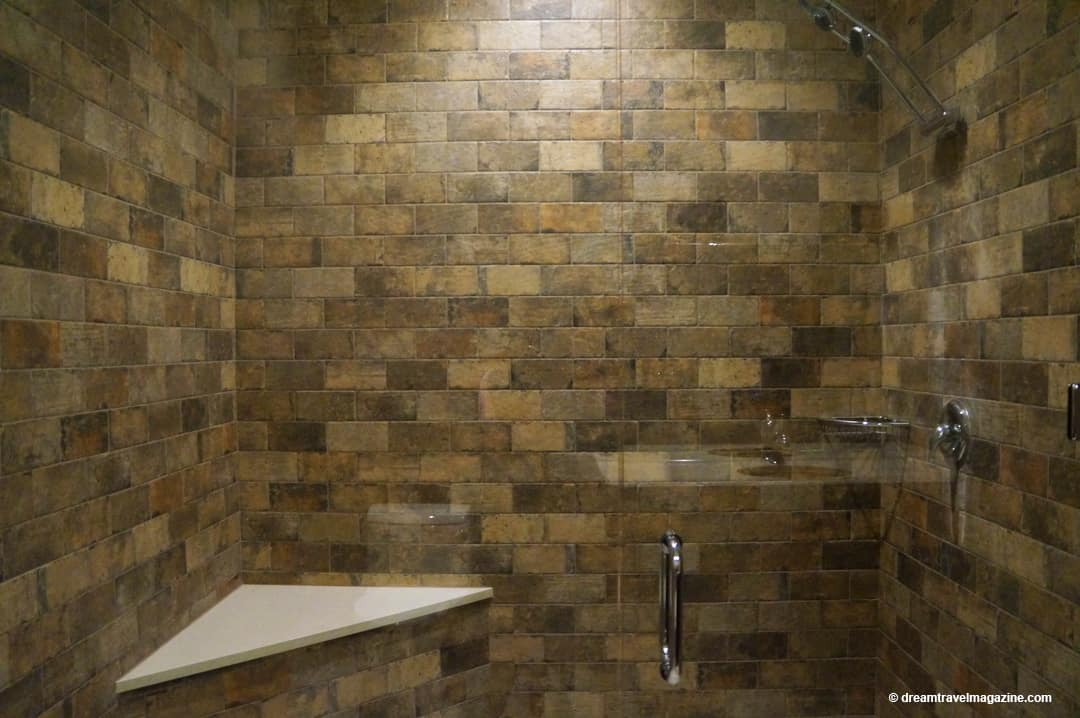Large Shower stalls in new Retro Suites rooms