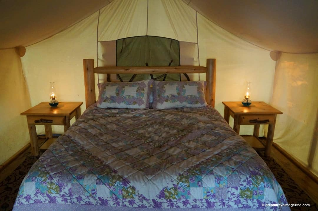 Inside the tent Glamping-Oakwood-Escape-Dunnville-Ontario