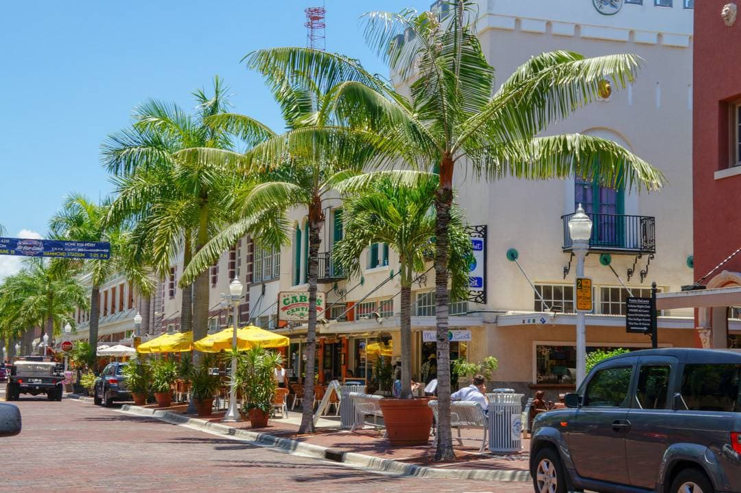 Downtown shopping in Fort Myers Beach Florida