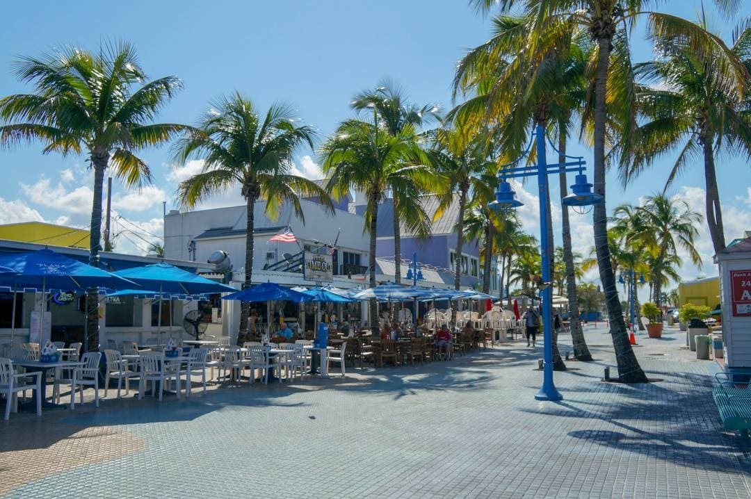 Times Square District Fort Myers Beach Florida.
