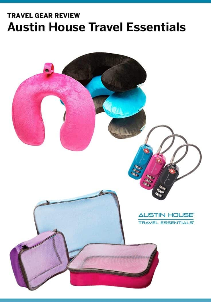 Austin House travel accessories offer good quality products including: packing cubes, neck pillows, luggage locks and more!