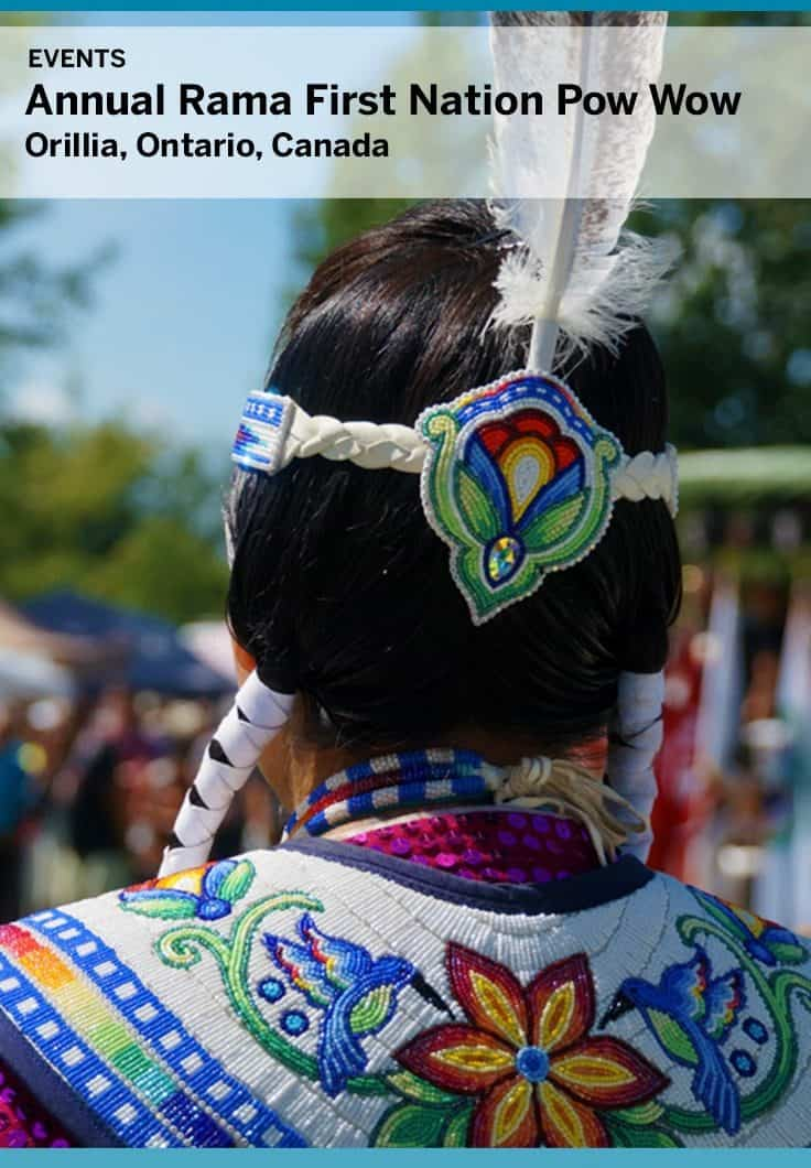An annual celebration in Orillia, The Chippewas of Rama First Nation Pow Wow is a great family event. Located near Orillia Ontario and open to all, the pow-wow features dancing, drumming, singing and local vendors.