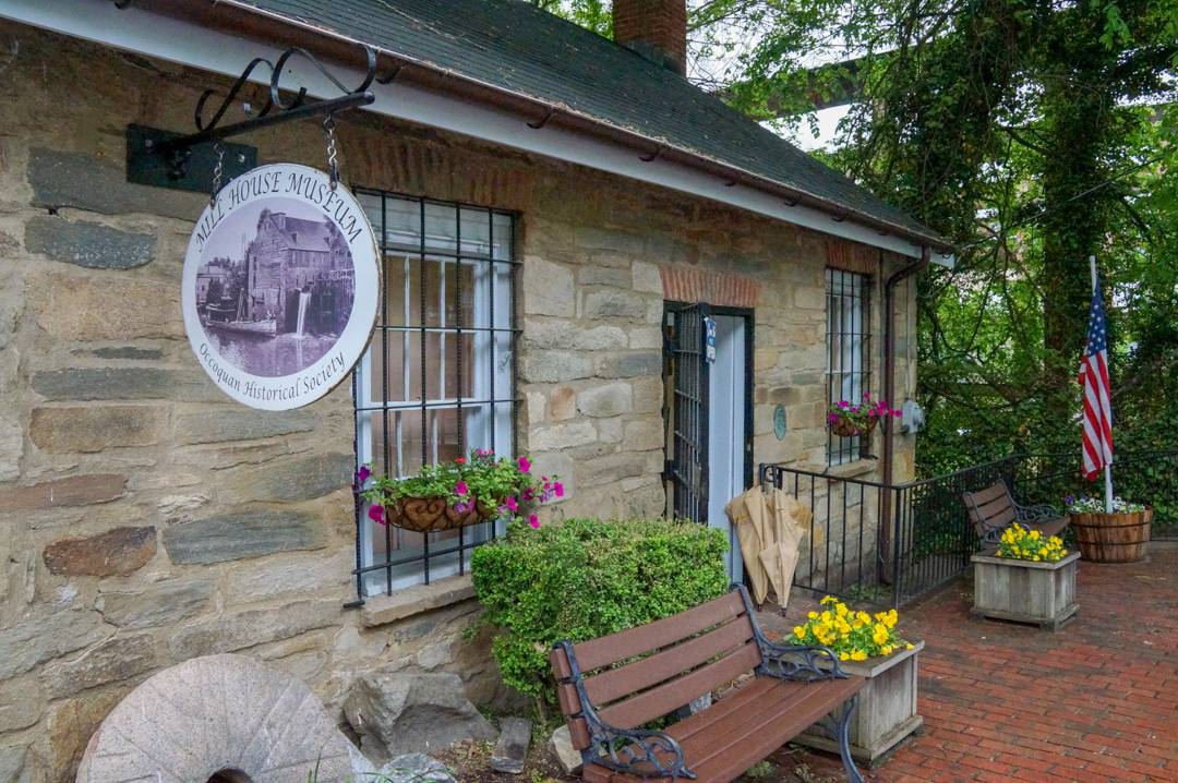 Street view of Historic Occoquan Village Shops and Museum Virginia USA