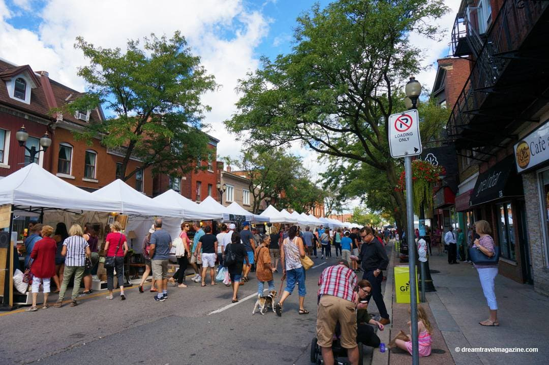 James street lined with food trucks and vendors for Hamilton Supercrawl 2016