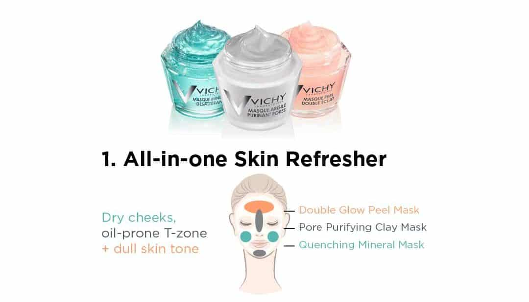 Vichy all in one skin refresher mask treatment