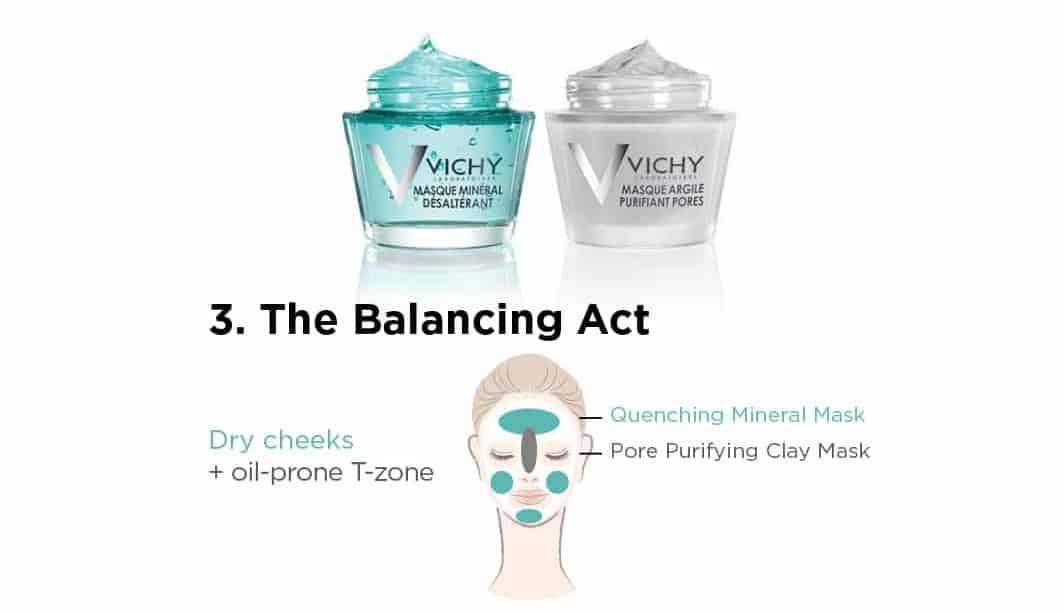 balancing act Vichy mineral mask collection