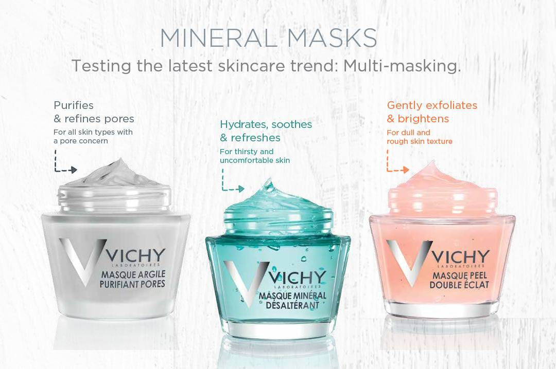What each mask does Vichy Mineral Mask Collection