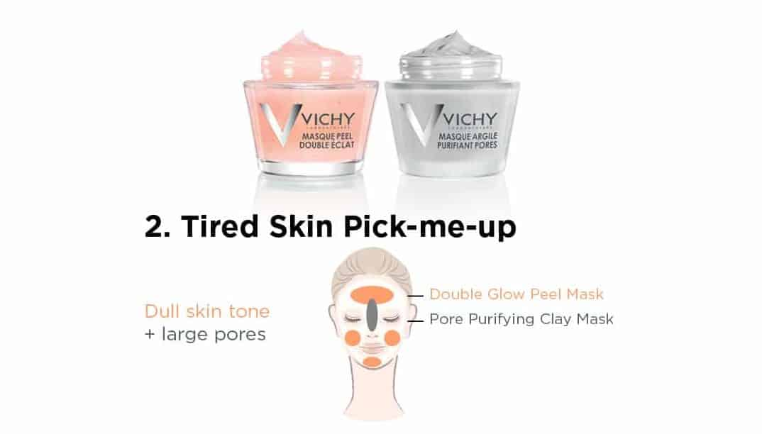Tired Skin Pick Me Up Vichy Mineral mask collection