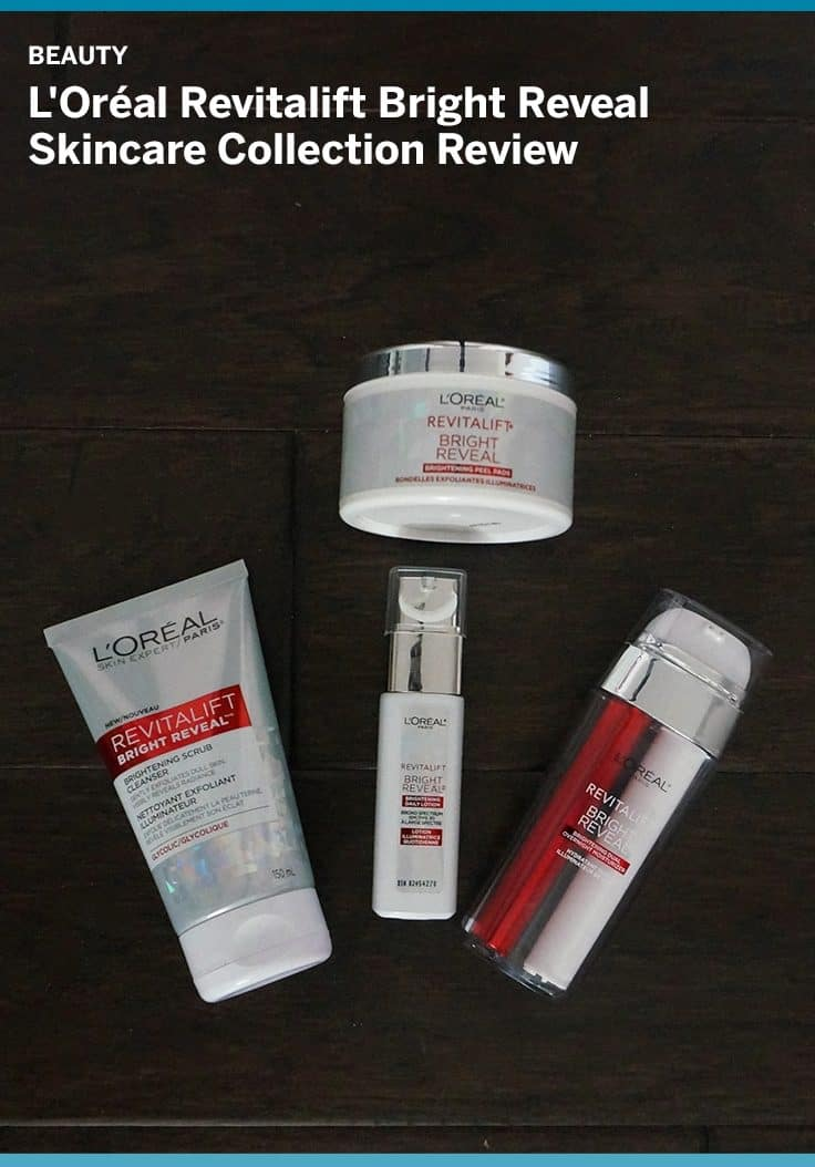 L'Oréal has released its new Revitalift Bright Reveal Skincare collection. The line includes a scrub cleanser, pre-soaked peel pads, an overnight moisturizer and day lotion with SPF30. See the results of our product test review here.