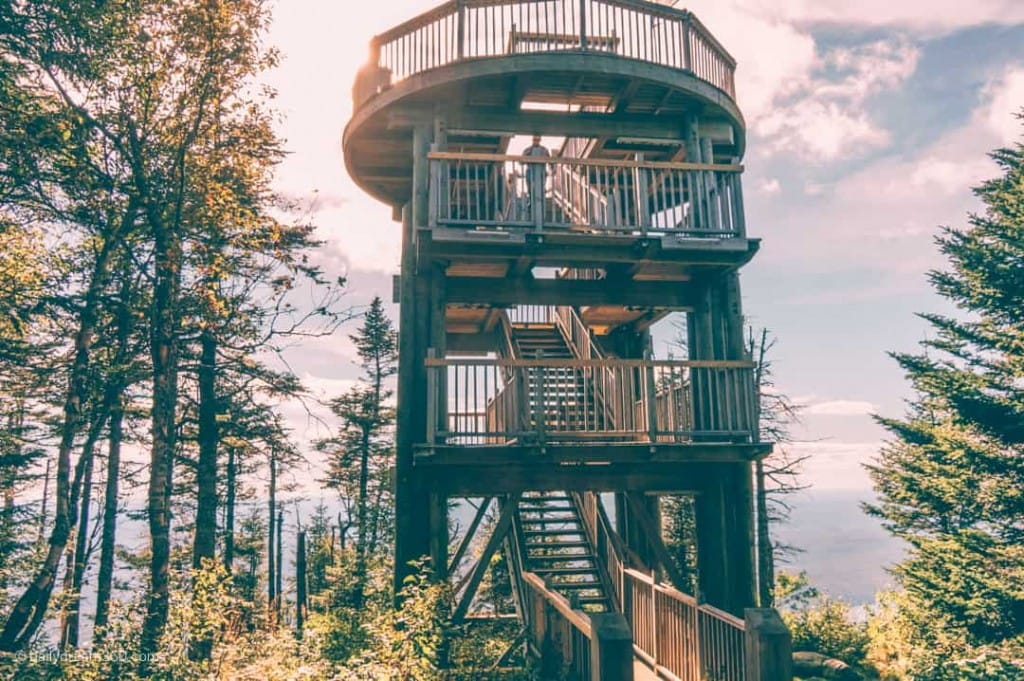 Observation tower at summit of Mont-Tremblant Quebec