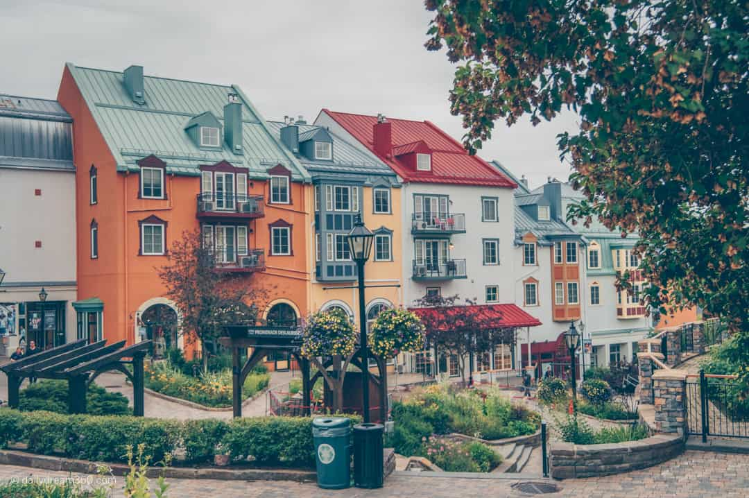Colourful building in Mont Tremblant Village