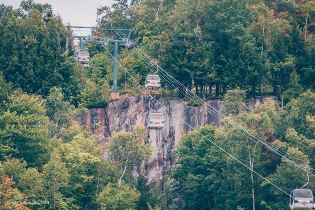 Gondola up Mont Tremblant in fall