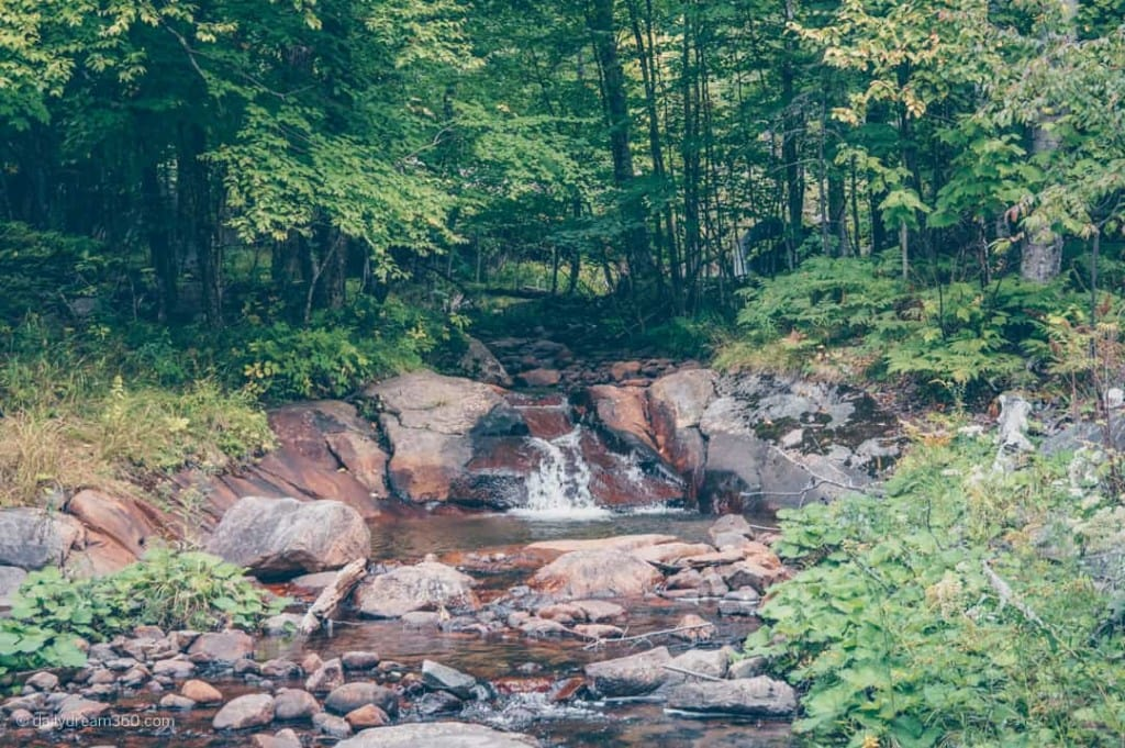 Waterfall on Trail in Tremblant resort