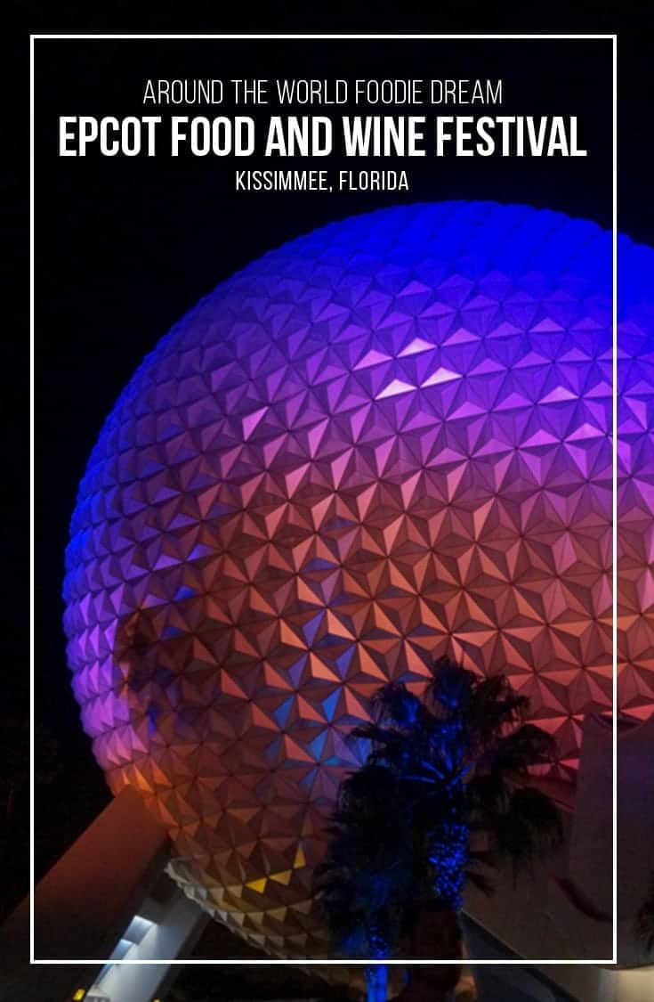 Each year Epcot's Food & Wine Festival allows visitors to eat and drink their way around the world. The park becomes a foodie paradise featuring dishes from around the world, wine seminars, musical acts and more. | #Epcot #Disney #foodfestival #FoodandWine #Kissimmee #Florida |