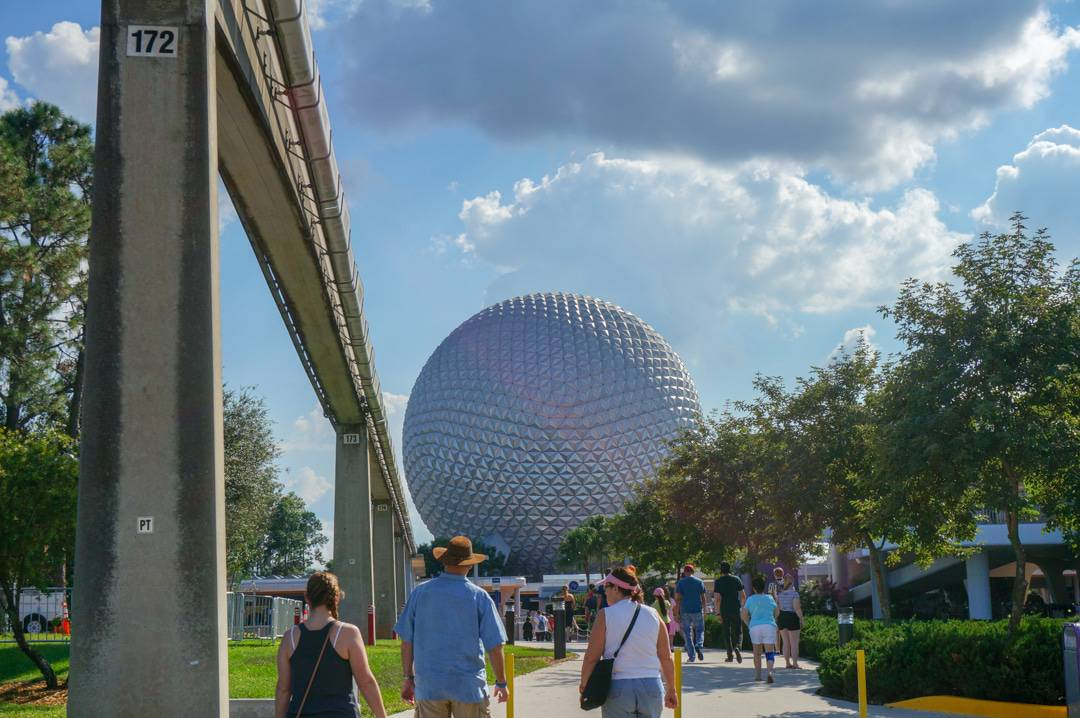 Walk up to Epcot's front gates.