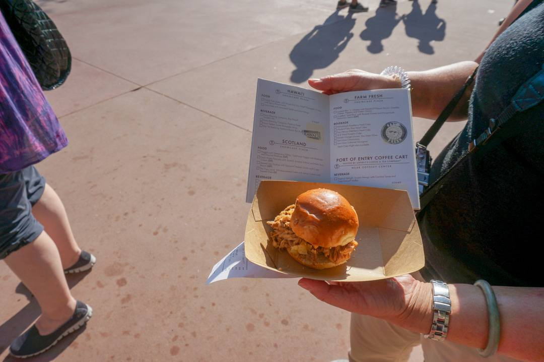 Stamps in food and wine passport at epcot centre