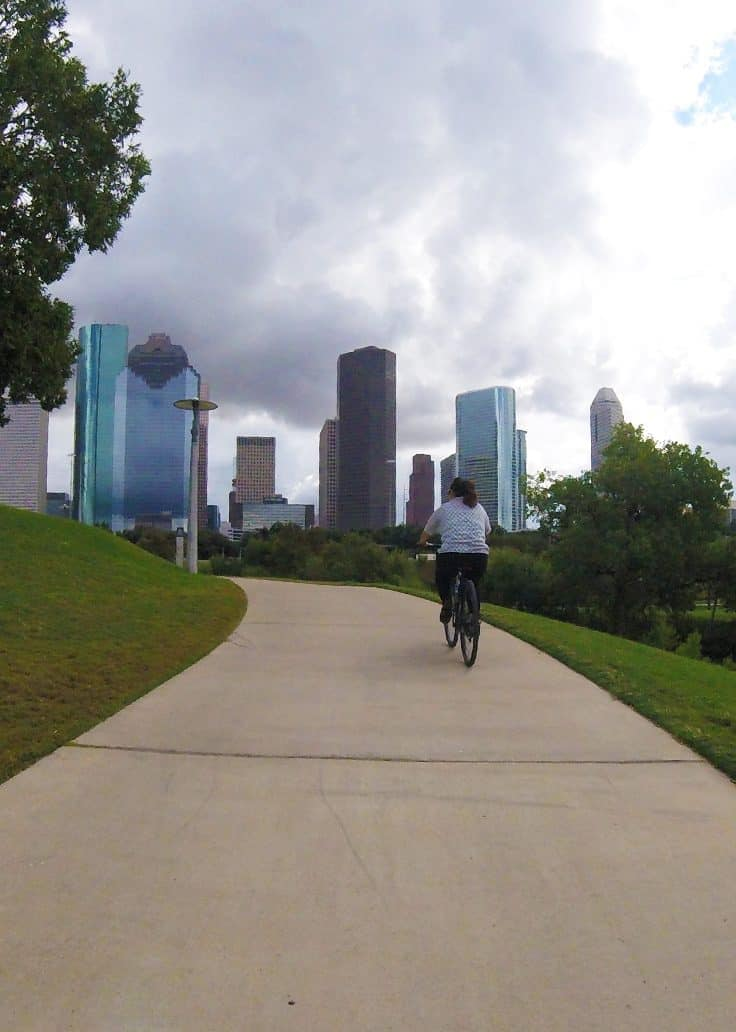 We got some great views of the Houston skyline throughout our 2 hour tour with Bayou City Bike Tours. Houston has many tour options available for every type of traveller. Check them out in this article.