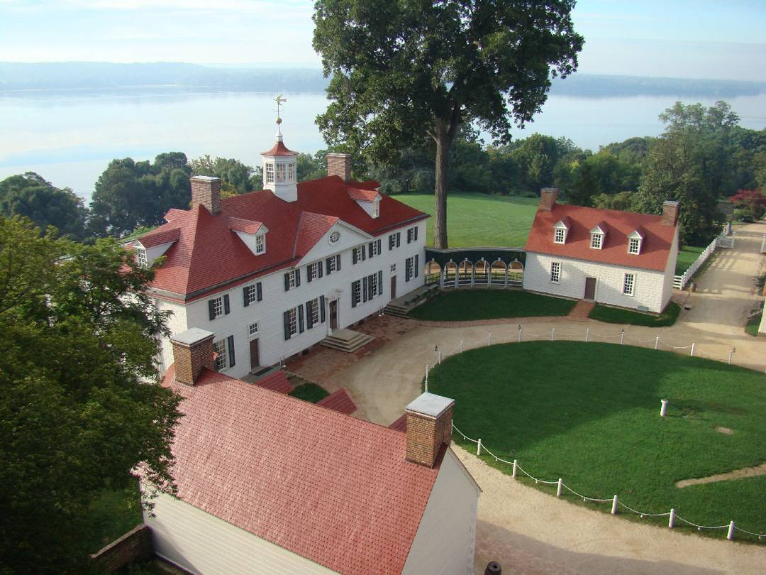 Mount Vernon grounds aerial view Things to do in Fairfax Virginia