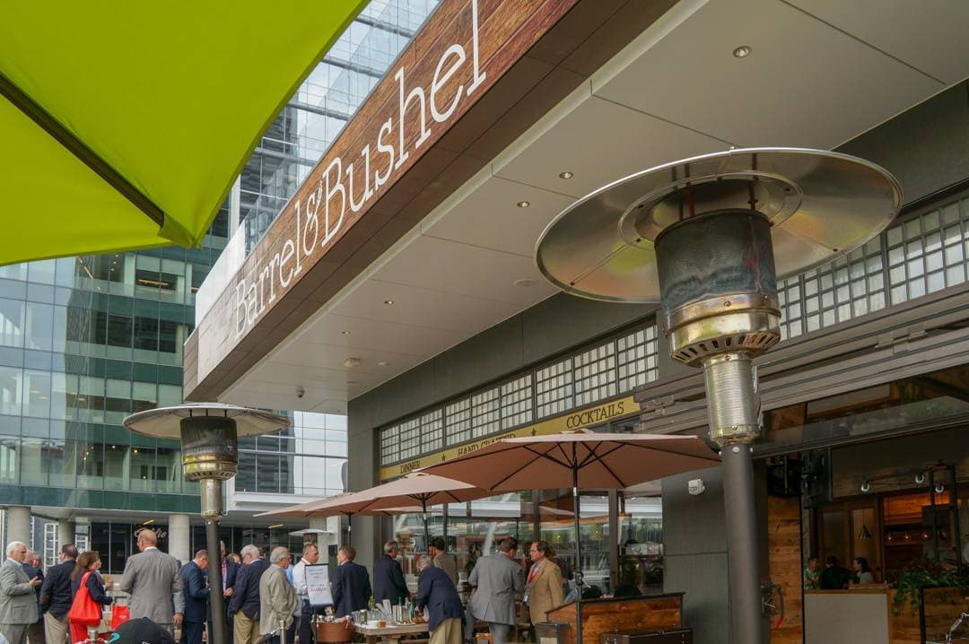 Barrel and Bushel patio happy hour Hilton's Harth Restaurant Things to do in Fairfax Virginia