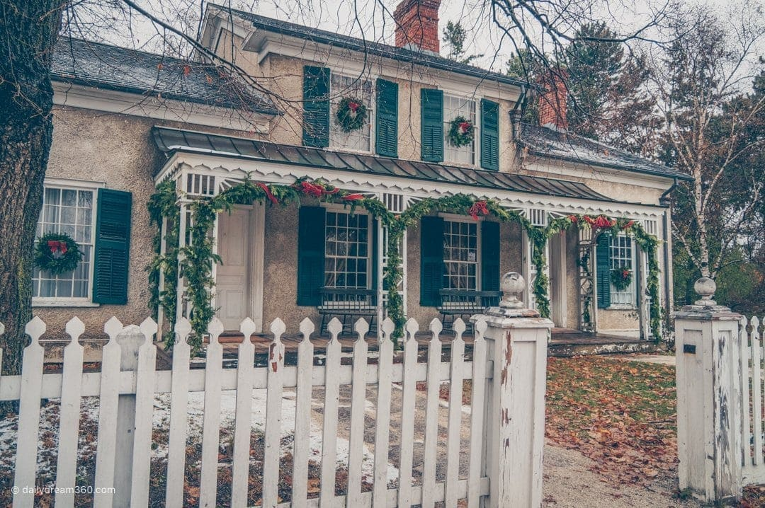 Home at Black Creek Pioneer Village Decorated for the holidays