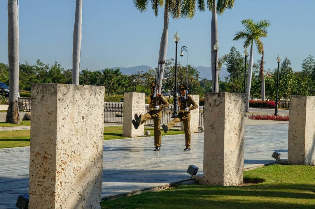 Changing of the guard Santa Ifigenia Cemetery Santiago de Cuba