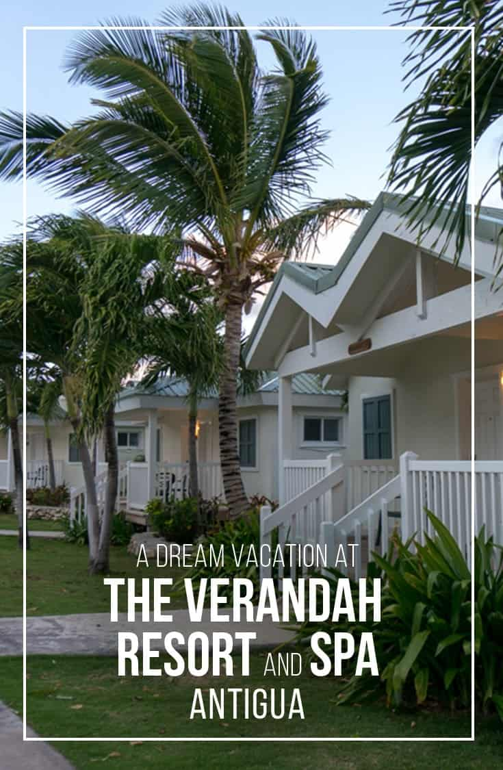 Looking for a luxury escape in Antigua? In this post we share our experience at the Verandah Resort and Spa Antigua. This detailed review highlights the bungalow suites, the resorts beaches, pool and amenities. | Resort Review | Antigua Barbuda | Beach Vacation | All-inclusive resort | Verandah Resort and Spa |